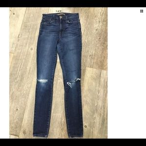 Joe's Jeans Distressed High Rise Skinny Stretch